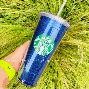 💙NEW💙Starbucks Blue Glitter Sparkle Tumbler